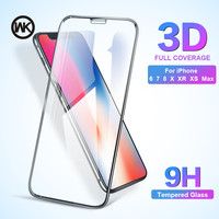 WK 3D 9H Tempered Glass for iPhone X 6 7 8 Plus Screen Protector Full Cover Screen Protection for iPhone XS Max Glass XS XR Film|Phone Screen Protectors| |  -