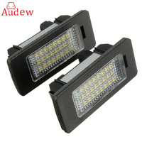 2X E Marked OBC Error Free 24 LED White License Number Plate Light Lamp For BMW