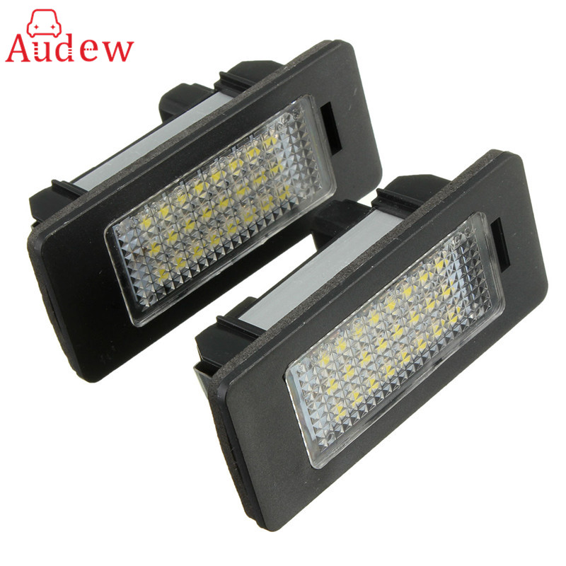 2X E-marked OBC Error Free 24 LED White License Number Plate Light Lamp For BMW E81 E82 E90 E91 E92 E93 E60 E61 E39 X1/E84 2 x led number license plate lamps obc error free 24 led for bmw e39 e80 e82 e90 e91 e92 e60 e61 e70 e71