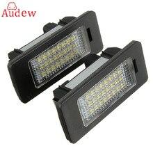 2X e-помечено ОВС ошибок 24 LED белый номерной знак свет лампы для BMW E81 E82 E90 e91 E92 E93 E60 E61 E39 X1/E84