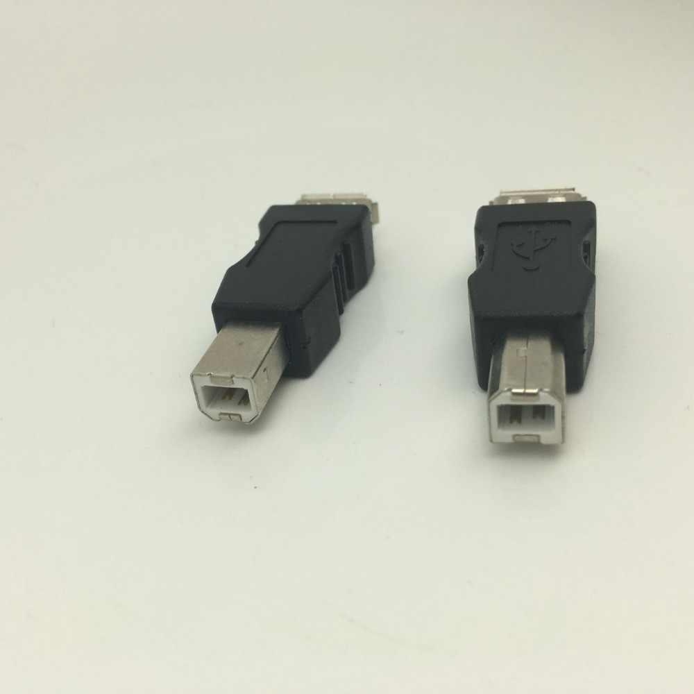 Usb fêmea para usb b macho conector adaptador de cabo scanner de impressora de computador USB-B conversor de adaptador tomada usb aqjg