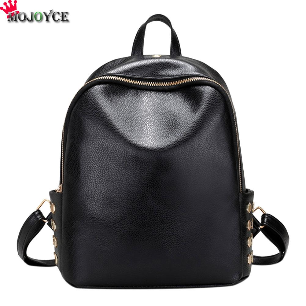 Women Backpacks Ladies Travel Bags PU Leather Backpack Small Style Rivet Bag Student's School Backpacks Bolsas Mochilas Feminina doodoo fashion streaks women casual bear backpacks pu leather school bag for girl travel bags mochilas feminina d532