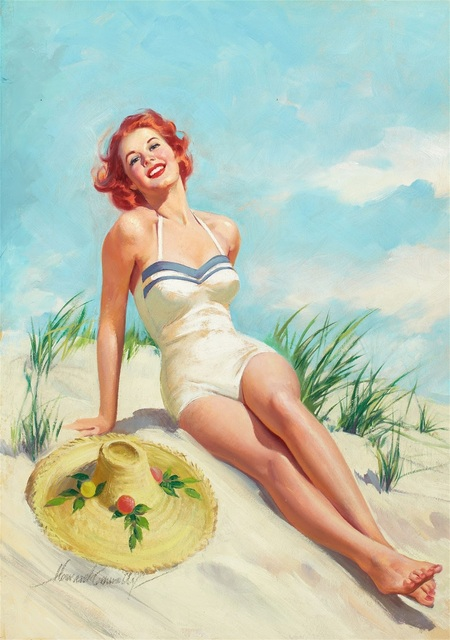 pin up a la plage