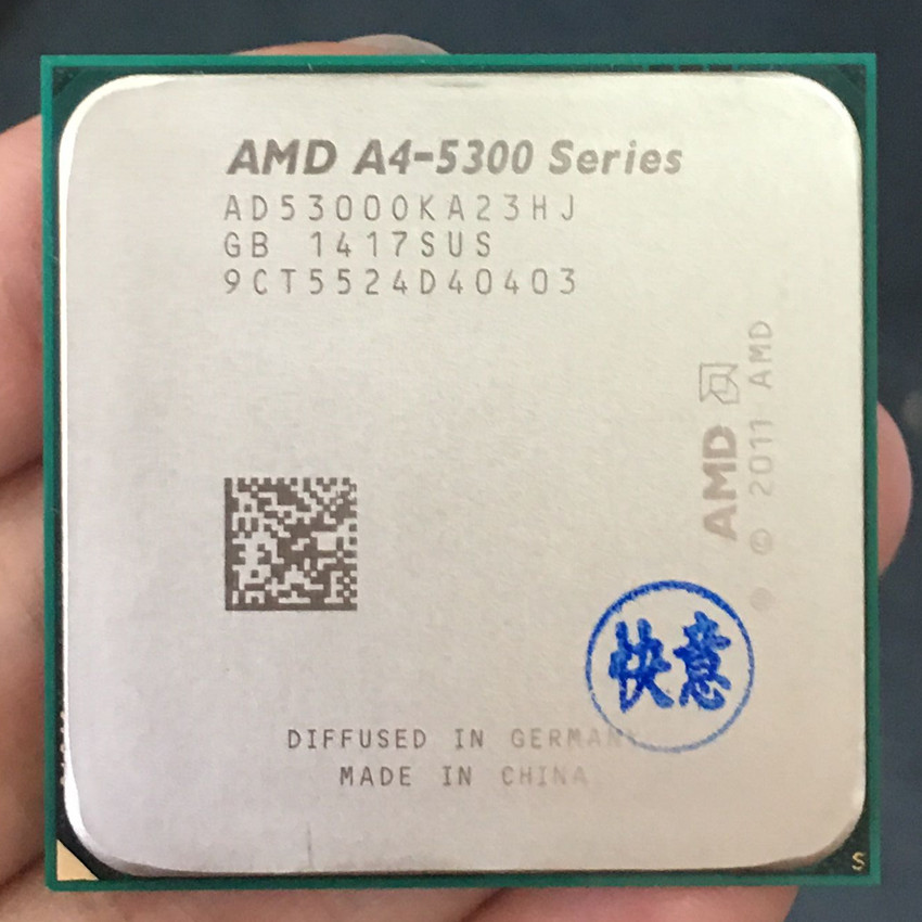 AMD A4 5300 Dual-core FM2 3.4GHz 2MB 65W CPU processor pieces A4-5300 APU Integrated graphics