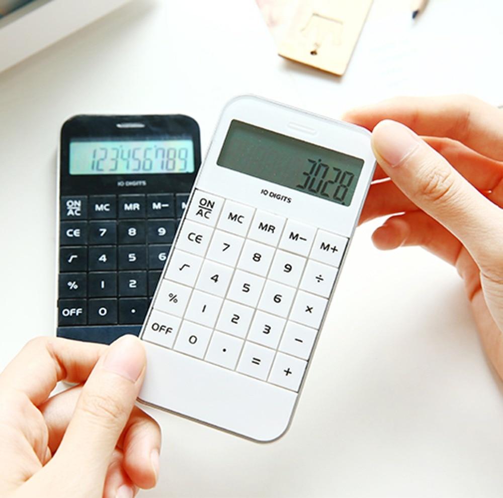 все цены на Portable Home Calculator LCD Display Pocket Electronic Calculating Office School Calculator 11.5x5.9x1.0cm