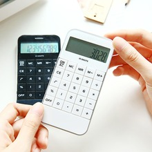 Portable Home Calculator LCD Display Pocket Electronic Calculating Office School