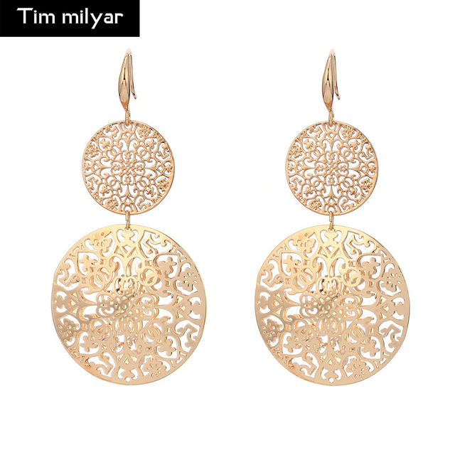 2018 New Hollow Earrings Antique Gold Silver Filigree Drop Earring Accessorices Statement Eardrop The Year
