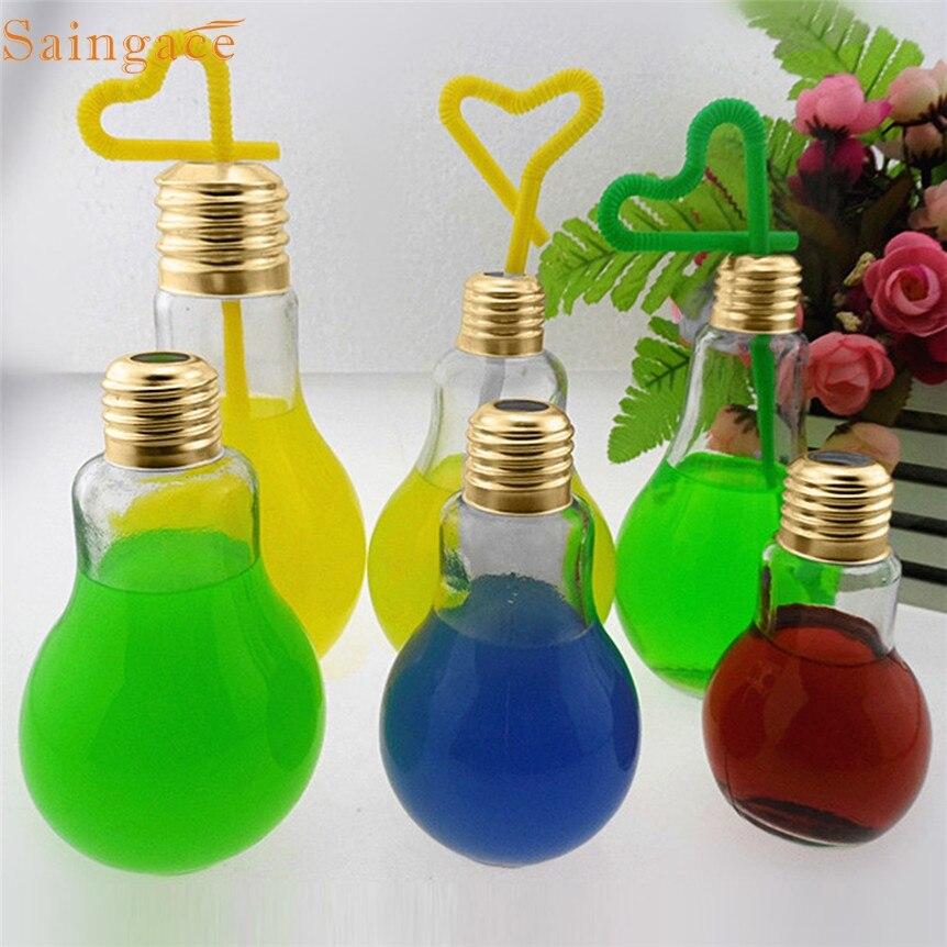 Home Wider Saingace New Summer Bulb Water Bottle Cute Brief Fashion Cute Milk Juice Light Bulbs Leak-proof Drop Shipping