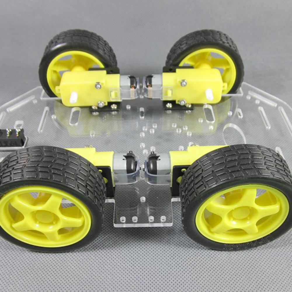 Smart Robot Car Chassis Kit Smart Car Chassis For 4wd Avoidance Tracking Motor Active Components