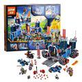 1115 unids lepin 14006 nexus caballeros el fortrex castle building block aaron zorro de arcilla con 70317