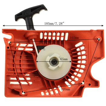 Recoil Pull Starter For Chinese Chainsaw 4500 5200 5800 45 52cc 58cc Raptor Red Lawn Mower Starter