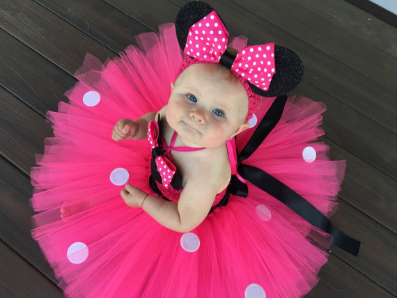 df17fc6cfa4f2 POSH DREAM Cute Minine Kids Girl Dress Hot Pink Cartoon Cosplay Children  Clothes for Cosplay Party Baby Toddler Girls Tutu Dress