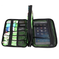 Portable Storage Case Large Double Layer Cable Organizer Bag Digital USB Cable Earphone Pen Travel