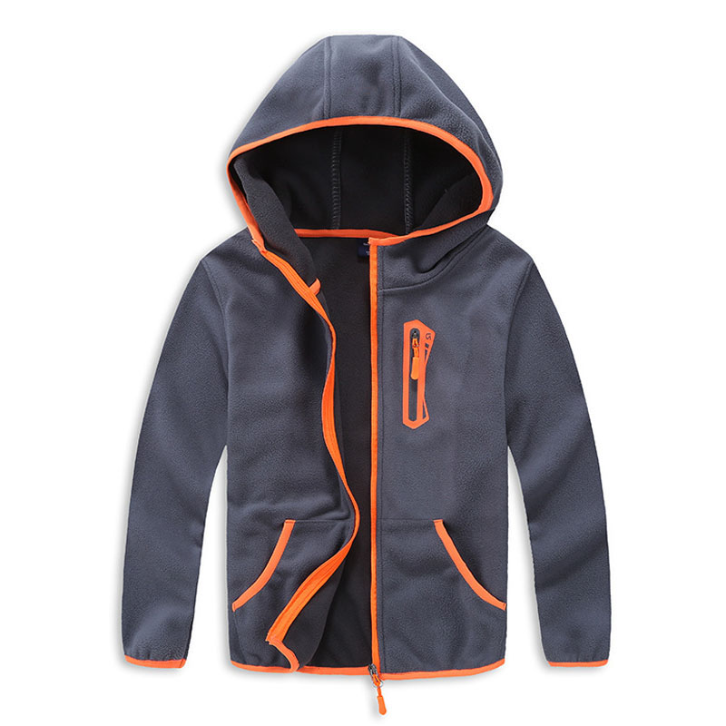 Polar Fleece Children Boy Outerwear Coat Kids Sport Jacket Clothes Anti-fog Boys Soft Shell Jackets For 3-14T Spring Autumn Tops
