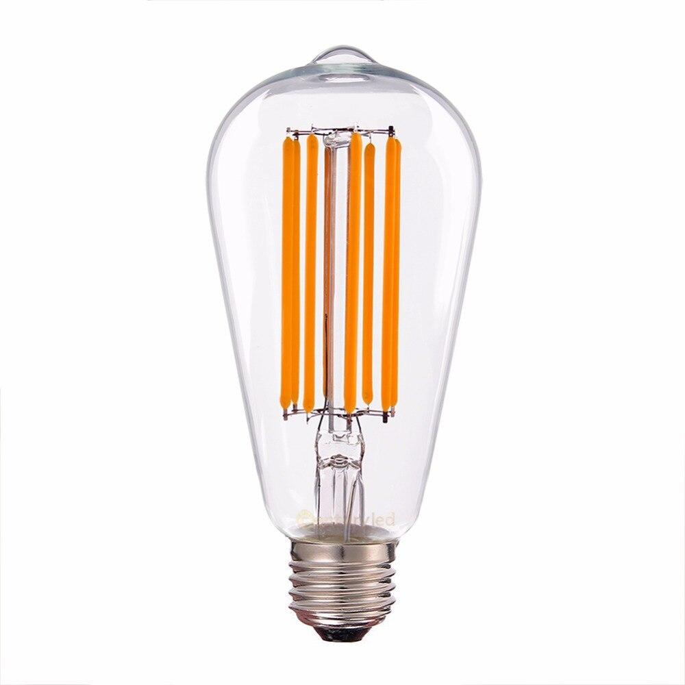 2200K  ,8W Antique LED Long Filament Light Bulb ,Edison ST64 Pearl LED Lamp ,E26 Base ,100V for Japan , Dimmable 5pcs e27 led bulb 2w 4w 6w vintage cold white warm white edison lamp g45 led filament decorative bulb ac 220v 240v