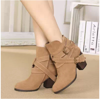 c567628de24bb New Brand British Style 2015 Women Genuine Leather Boots Casual Flat ...