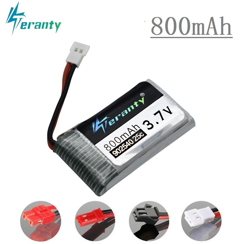 3.7V 800mAh 25c Lipo Battery 902540 For Syma X5 X5HC X5HW CX-30 K60 RC Quadcopter Best Quality Drone Spare Part 3.7 V Battery