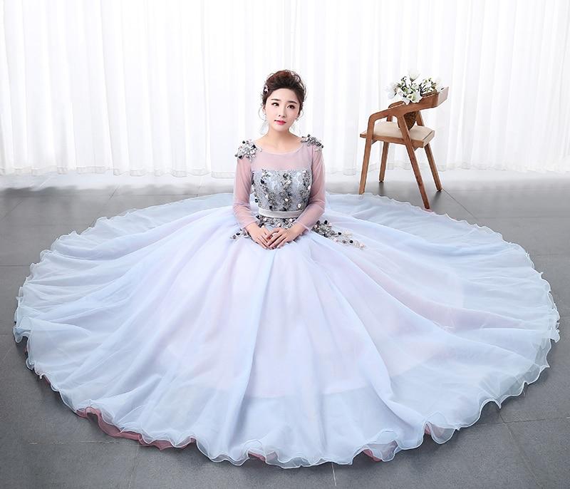 Aliexpress.com   Buy High Quality Organza Girls Colored Wedding Dress 2018 New  Fashion For Paty Female Art Exam Gowns Part Dress Vestidos De Novia from ... 2d22c7491511