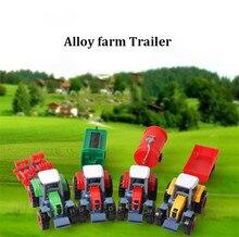 Mini Alloy Farmer Farm Trailer Model Children Baby Car Toys