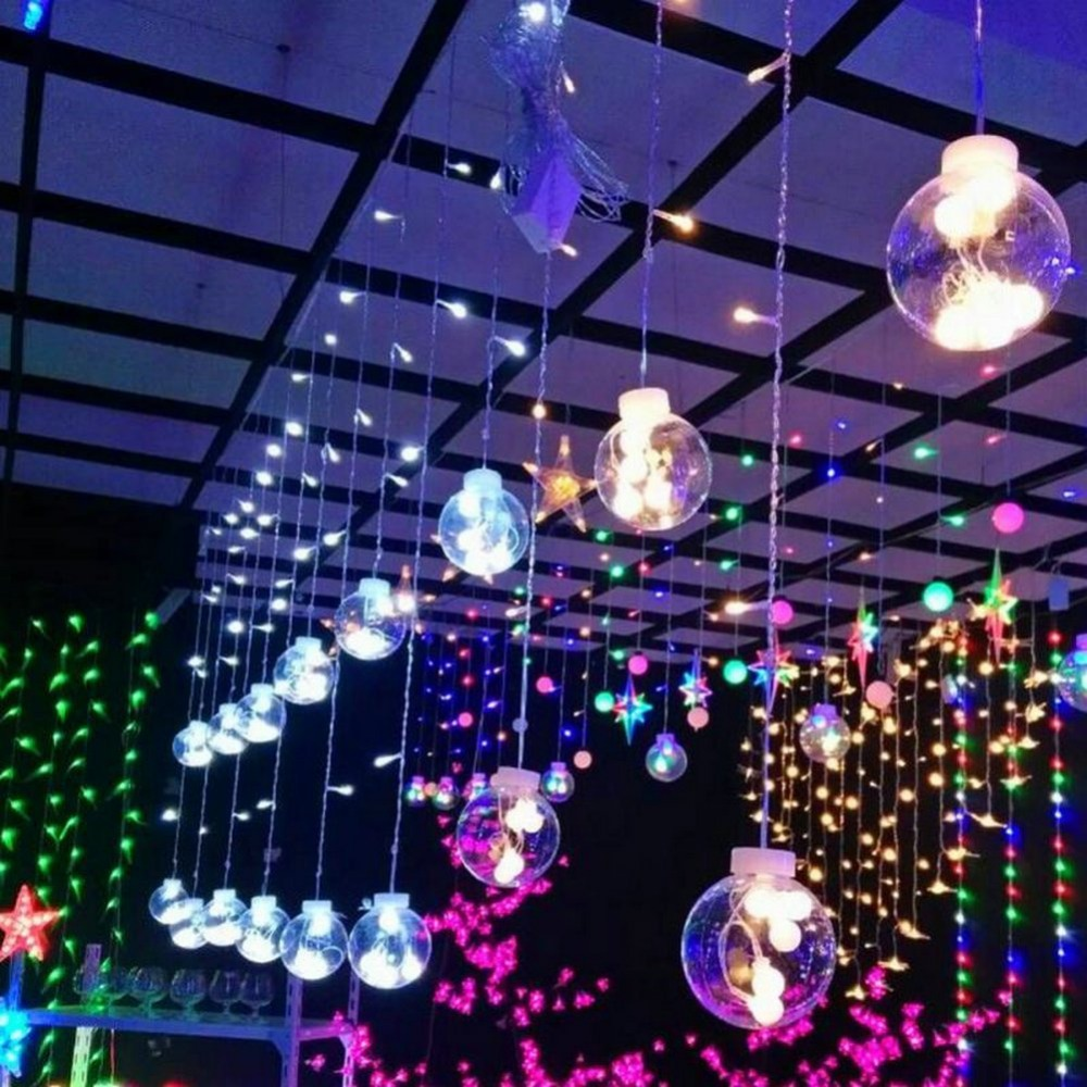 Globe Fairy String Bulb Lights for Indoor Outdoor Wedding Christmas Xmas Thanksgiving Party Events Home Roof Decor (Colorful)