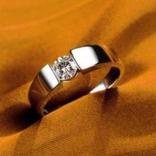 0.5Ct самолет Пасьянс круглой огранки синтетические бриллианты женское кольцо Твердое Серебро 925 пробы белое золото цвет ювелирные изделия подарок для нее