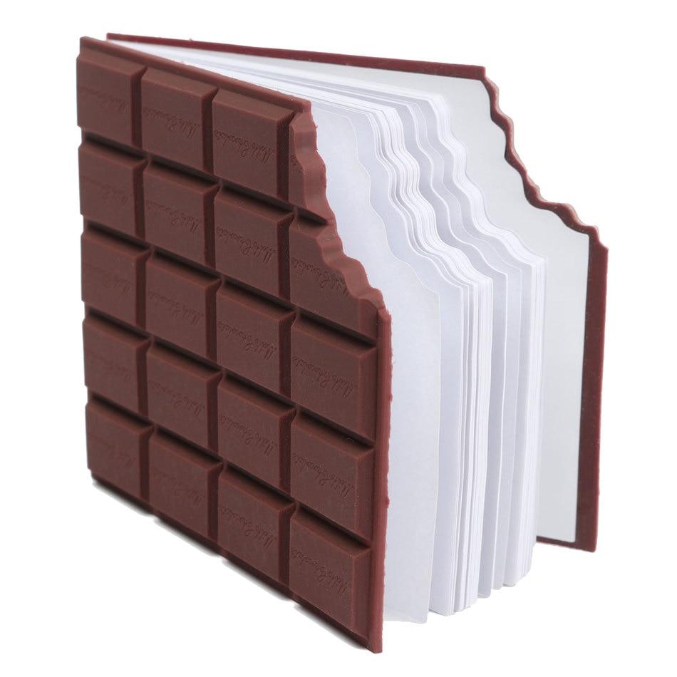1 Pc Schokolade Form Bequem Schreibwaren Notebook Individuelle Memo Pad Diy Abdeckung Notizblock Student Schreibwaren Schule Liefert Kunden Zuerst