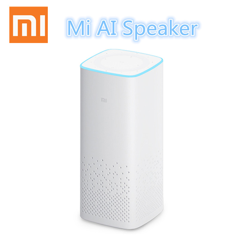 Original Xiaomi AI Bluetooth Speaker Portable Wireless Stearo Speaker Wire Smart Music Player smart remote control AI speaker original xiaomi mi speaker mini 2 4g wifi voice smart speaker wireless portable speaker bluetooth 4 1 with 4 mic of smart home