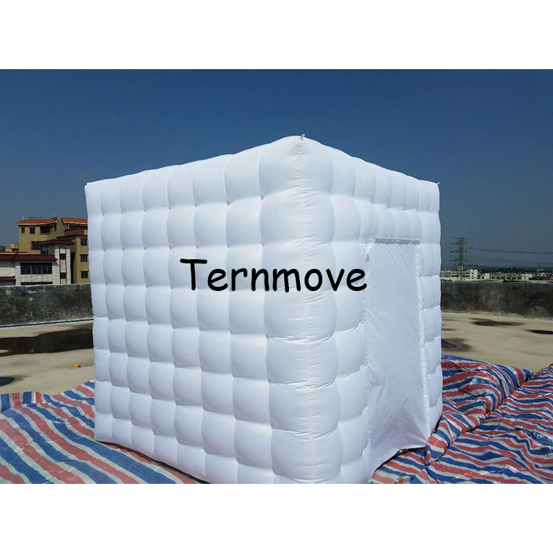 LED lighted inflatable portable photo booth kiosk enclosure with factory price Free Shipping inflatable cube tent photo booth attractive advertising inflatable booth white or colorful inflatable cube tent
