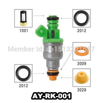 Fuel Injector Service Repair Kit Seals Filters Caps CSKDO64 87-88 Mazda 1.3