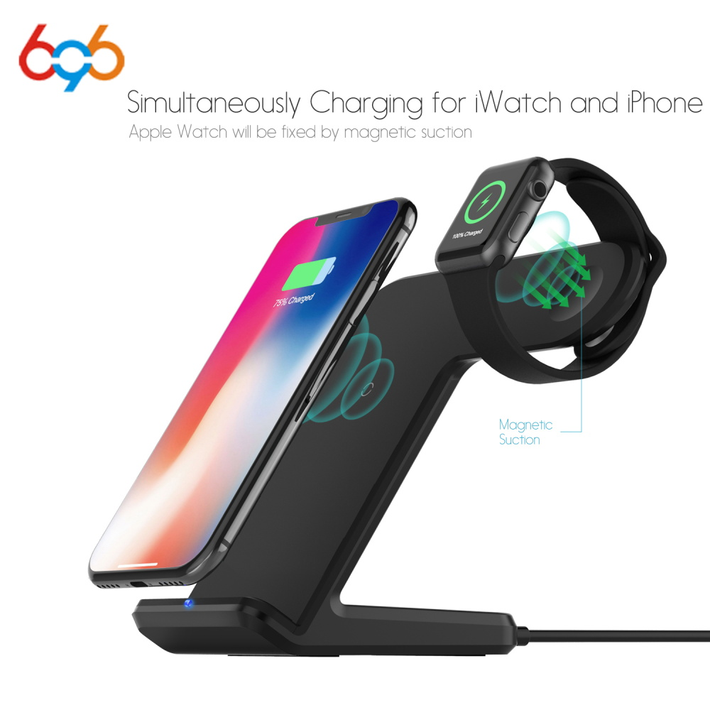 696 F11 2 IN 1 Wireless Fast Charger Dock Station Stand for Phone Watch Charging Dock Station for Apple Watch 2/3 FOR iPhoneX696 F11 2 IN 1 Wireless Fast Charger Dock Station Stand for Phone Watch Charging Dock Station for Apple Watch 2/3 FOR iPhoneX