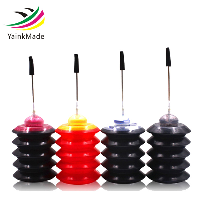 4 Pcs Universal 30ml dye ink K C M Y Refill Ink kit For HP for Canon for Brother for Epson for Lexmark printer ink Cartridge continuous ink supply system for epson canon hp lexmark