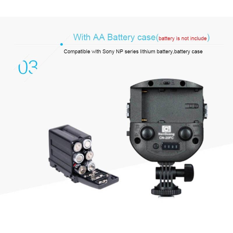 CN-20FC Kamera LED Işık Video Spotlight 3200-5600 K Canon Nikon - Kamera ve Fotoğraf - Fotoğraf 5