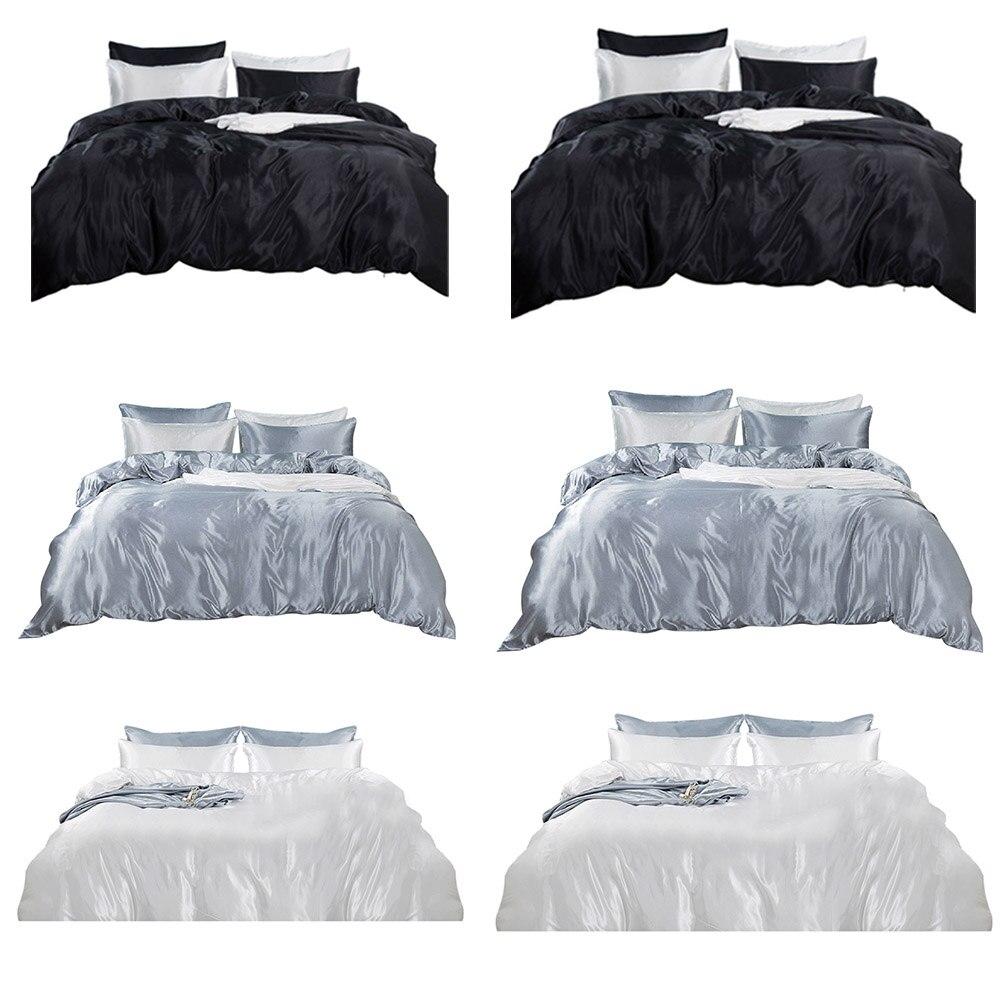 3 Pcs Bed Sheet Pillowcase Flat Fitted Deep Pocket Queen King Full Sizes Bedding Set 100% Guarantee Bedding Sets