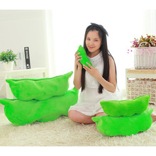 Pillows For Chairs Seat Back Cushions Sofa Cute Floor Home Decor Soybean Pillow Decorative Plush Toy Emoji Smiley Green