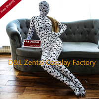 Livraison Gratuite DHL Mignon Dalmatien Chien Imprimer Zentai Full Body Zentai Costume Animaux Lycra Spandex Halloween Zentai Costume LCDG101