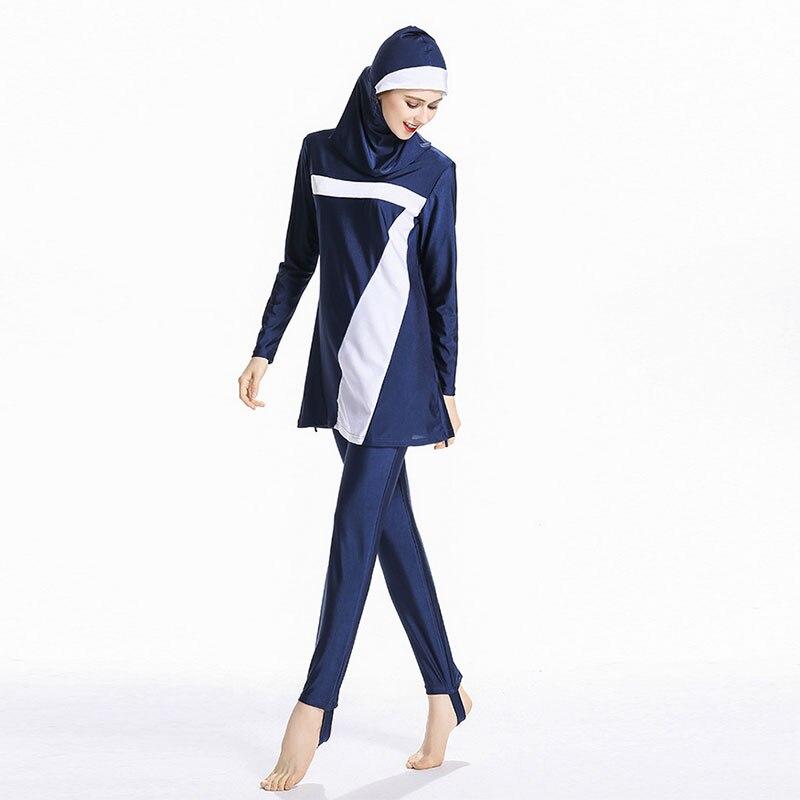 Women Modest Patchwork Plus Size Floral Muslim Swimwear Hijab  Islamic Swimsuit Swim Surf Wear Sport Burkinis 6XL