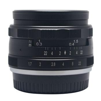 35mm Aperture Manual Focus Lens APS-C for canon eosm nikon1 m43 gh5 sony nex7 a7 a6500 Fujifilm X-A3 XE3 XM1 XT20 camera