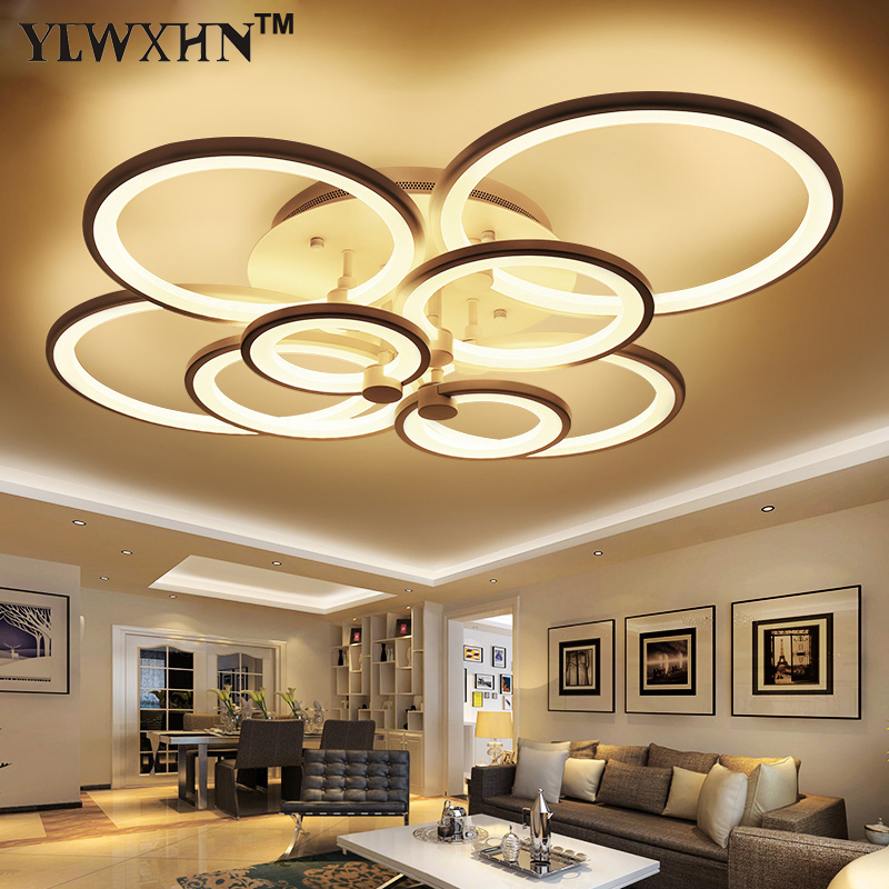 2017 New Arrival Real Ce Remote Living Room Ceiling Lights Led Luminaries Stop Modern Darkening The Lamp From Deckenleuchten 18w dual led ceiling lamp 140 270mm ce