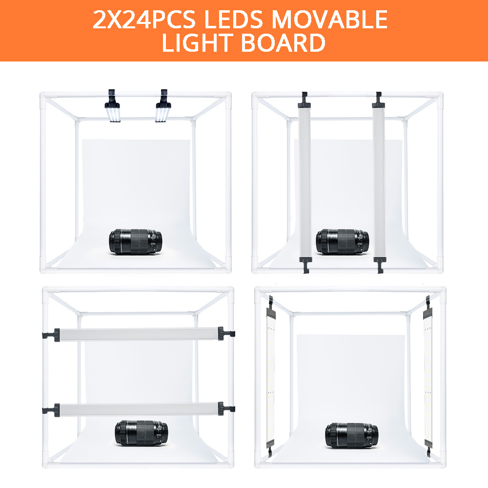 Image 4 - SAMTIAN Light Box 40*40CM Folding LED Lightbox Studio Photo box With 3 Colors Background For Jewelry Toy Accessories Photography-in Tabletop Shooting from Consumer Electronics