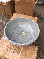 Круглый Ванная комната Lavabo Керамика столешницей умывальника гардероб трещины остекление фарфоровые сосуд Раковина Lulu001