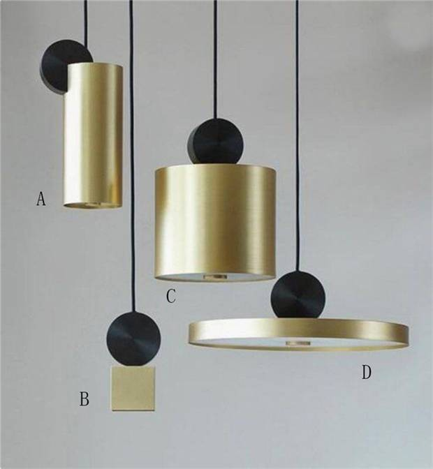 Nordic Modern Gold LED Pendant Lights bedroom dinning room kitchen hanglampen voor eetkamer E27 LED Lamp Edison Light BulbNordic Modern Gold LED Pendant Lights bedroom dinning room kitchen hanglampen voor eetkamer E27 LED Lamp Edison Light Bulb