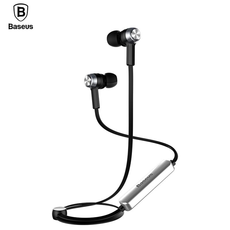 Baseus B11 imán auricular Bluetooth inalámbrico deporte V4.1 auricular Bluetooth auriculares con micrófono estéreo auriculares para iPhone Xiaomi