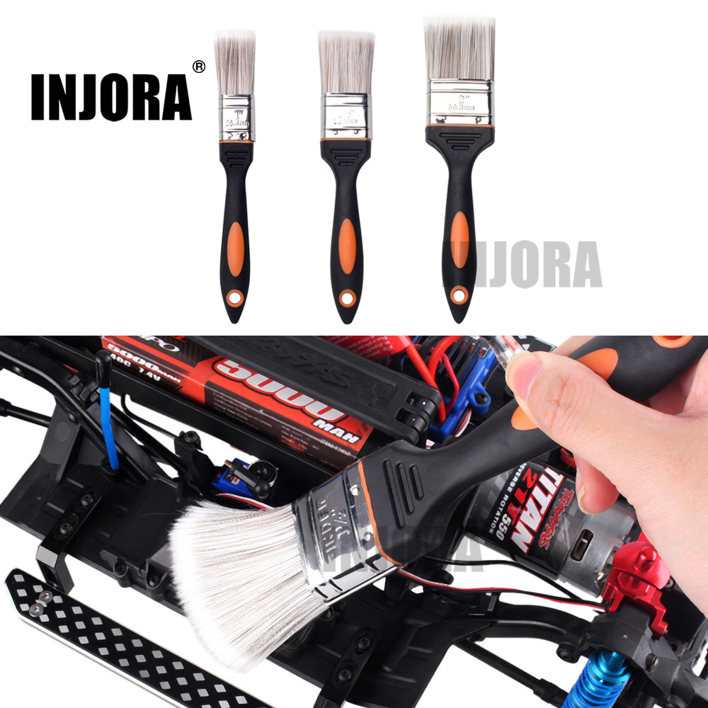 INJORA 1PCS RC Car Soft Fur Brush Cleaning Tool 1/1.5/2 Inch For RC Model Car