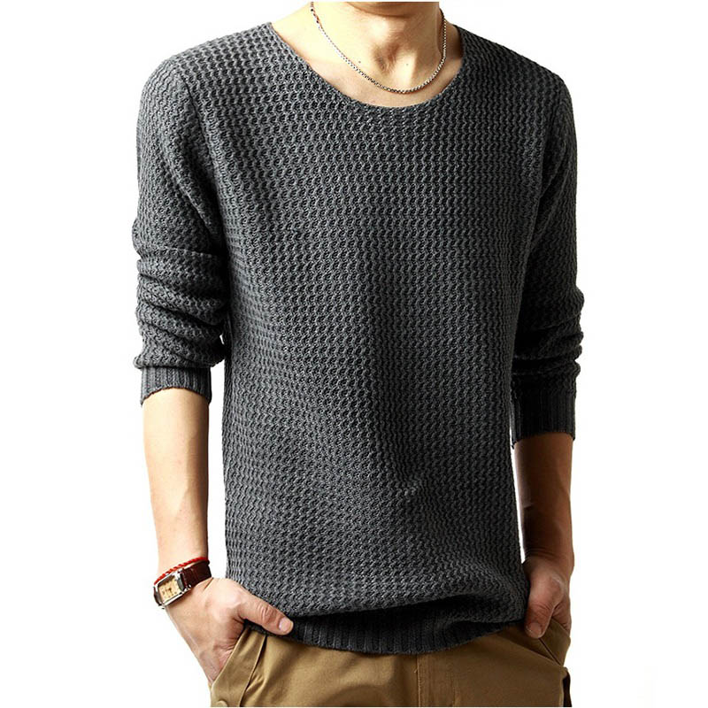 YDTOMM Brand Clothing Men 2019 Fashion Sweater Simple Solid Color O-Neck Slim Fit Casual Pullover Men Sweaters Knitting Mens XXL