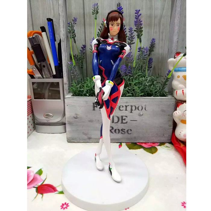 Free Shipping 8 Hot Game OW Hero Hana Song D.VA Stand Ver. Boxed 21cm PVC Action Figure Collection Model Doll Toy Gift цена