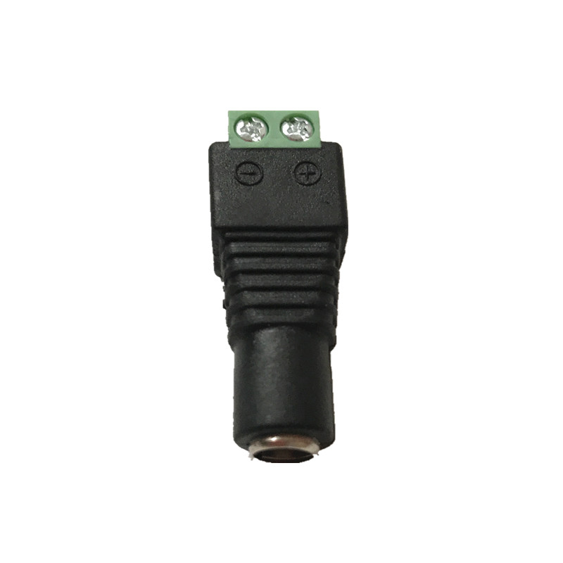 10 Pcs CCTV Cameras 2.1mm x 5.5mm Female Male DC Power Plug Adapter For 5050 3528 5630 Single Color LED Strip Light