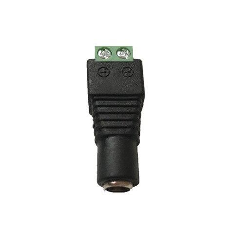 10 Pcs CCTV Cameras 2.1mm x 5.5mm Female Male DC Power Plug Adapter For 5050 3528 5630 Single Color LED Strip Light Karachi