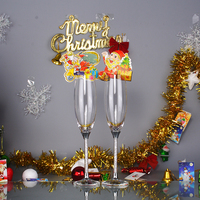 Hot sale! great quality big discount Champagne flutes wedding set crystal glass cups 180ML wholesale price wedding party club