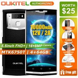 Original Oukitel K10000 Pro Premium Edition 4G LTE Android 7.0 Smartphone 10000mAh 12V/2A Octa Core 5.5