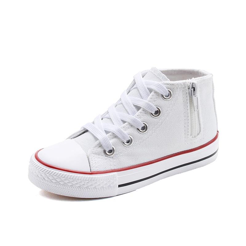 Детская обувь Студенческая парусиновая обувь модная высокая повседневная обувь в Корейском стиле S 2018 новые весенние дышащие кроссовки